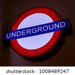 underground traditional sign... | Shutterstock . vector #1008489247