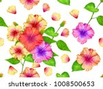 seamless pattern pink yellow... | Shutterstock . vector #1008500653