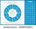 real estate infographic... | Shutterstock .eps vector #1008502843
