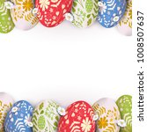 stylish easter background... | Shutterstock .eps vector #1008507637