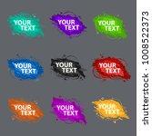 set grunge splash banners.... | Shutterstock .eps vector #1008522373