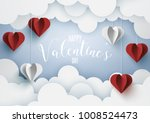 paper art of love and valentine'... | Shutterstock .eps vector #1008524473