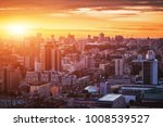 sunset over the city. | Shutterstock . vector #1008539527