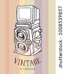 vector sketch style of retro... | Shutterstock .eps vector #1008539857