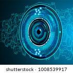 binary circuit board future... | Shutterstock .eps vector #1008539917