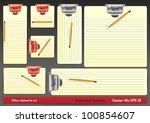blank clipboards | Shutterstock .eps vector #100854607