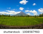 mount mayon volcano view with... | Shutterstock . vector #1008587983