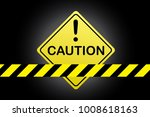 caution sign background vector... | Shutterstock .eps vector #1008618163
