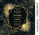wedding glamorous invitation... | Shutterstock .eps vector #1008618643