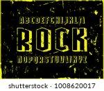 geometric sans serif bulk font. ... | Shutterstock .eps vector #1008620017