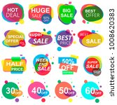 set of stickers and badges.... | Shutterstock . vector #1008620383