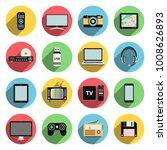 flat icons set of multimedia... | Shutterstock .eps vector #1008626893