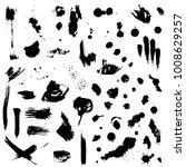ink splashes  splatters and... | Shutterstock .eps vector #1008629257
