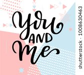 valentine day poster. hand... | Shutterstock .eps vector #1008630463