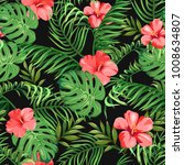 seamless pattern with exotic... | Shutterstock .eps vector #1008634807