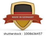 made in germany shield.3d... | Shutterstock . vector #1008636457