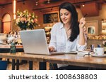 young businesswoman wearing in... | Shutterstock . vector #1008638803