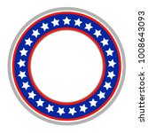 american flag abstract round... | Shutterstock .eps vector #1008643093