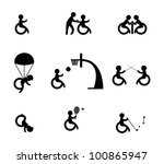 paralympic athlete or sports... | Shutterstock .eps vector #100865947