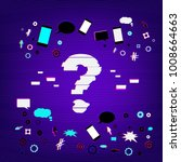 question stylized mark sign... | Shutterstock .eps vector #1008664663