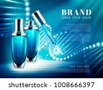 cosmetic product ads  blue... | Shutterstock .eps vector #1008666397