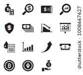 solid black vector icon set  ... | Shutterstock .eps vector #1008667627