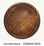 old round wooden cutting board... | Shutterstock . vector #1008667843