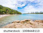 tallebudgera creek inlet on a... | Shutterstock . vector #1008668113