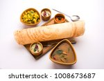 masala dosa is a south indian... | Shutterstock . vector #1008673687