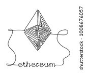 ethereum continuous coin linear ... | Shutterstock .eps vector #1008676057