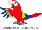 cartoon funny macaw | Shutterstock .eps vector #1008679273