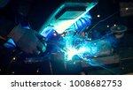 close up of welder working ... | Shutterstock . vector #1008682753