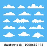 collection of stylized cloud... | Shutterstock .eps vector #1008683443