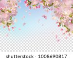 vector background with spring... | Shutterstock .eps vector #1008690817
