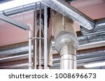 large ventilation pipes in... | Shutterstock . vector #1008696673