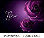 purple roses elements ... | Shutterstock .eps vector #1008715213