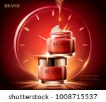 anti wrinkle cream ads ... | Shutterstock .eps vector #1008715537