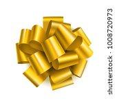 beautiful golden bow for gift...   Shutterstock .eps vector #1008720973