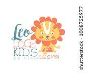 leo kids logo original design ... | Shutterstock .eps vector #1008725977