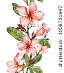 plumeria flower on a twig....   Shutterstock . vector #1008731647