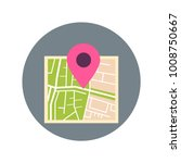 map with pointer pin icon... | Shutterstock .eps vector #1008750667