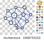 lightning network icon with...