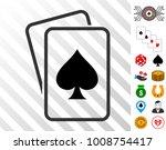 spade gambling cards pictograph ... | Shutterstock .eps vector #1008754417