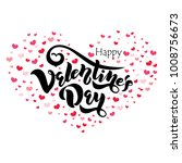 happy valentines day typography ... | Shutterstock .eps vector #1008756673