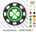 luck casino chip icon with... | Shutterstock .eps vector #1008756817