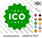 ico token pictograph with bonus ...
