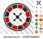 roulette pictograph with bonus... | Shutterstock .eps vector #1008768883