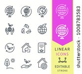ecology   line vector icon set. ... | Shutterstock .eps vector #1008783583