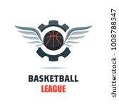 silhouette of basketball ball.... | Shutterstock .eps vector #1008788347