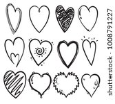 set of line art hand drawn... | Shutterstock .eps vector #1008791227